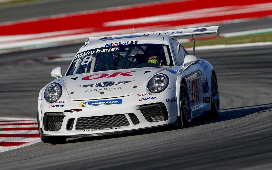 OK in actie tijdens Porsche Supercup